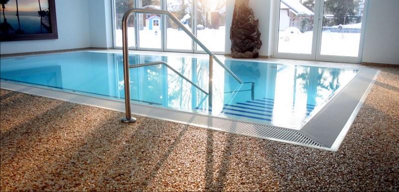 Каменный ковер: декоративный пол для ванной