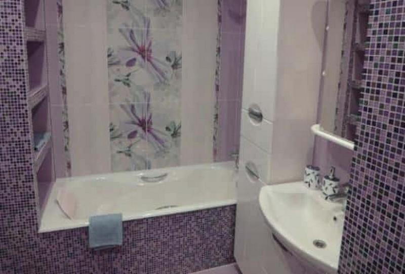 как класть мозаику в ванной фото