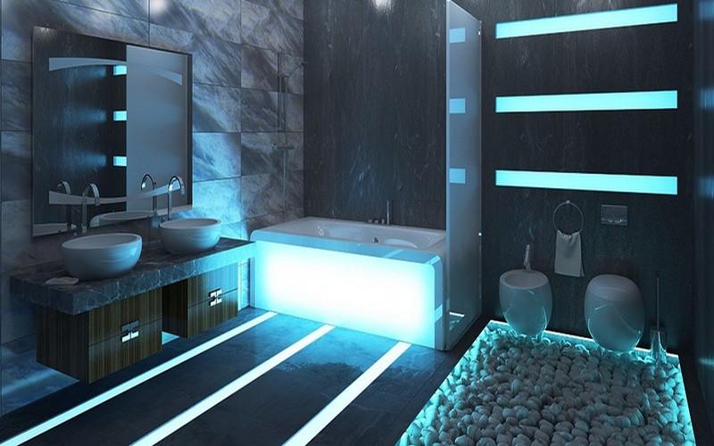 ванная в стиле хай тек фото