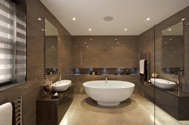отделка ванной комнаты минимализм фото