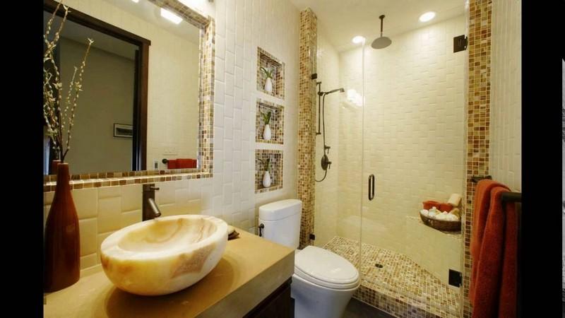 ниша в ванной с зеркалом фото