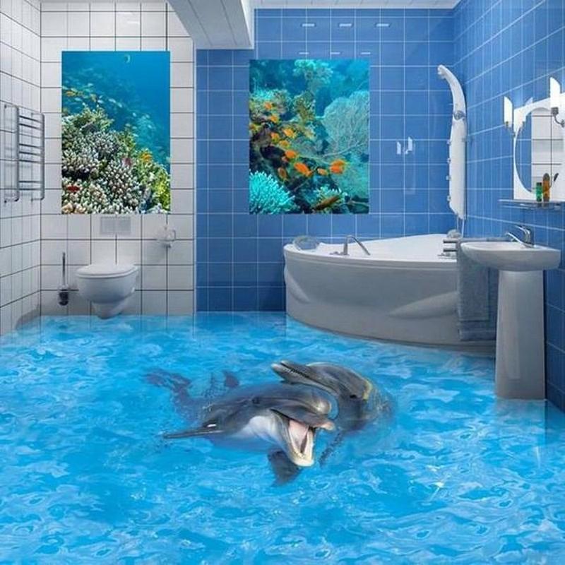 оформление ванной в морском стиле фото