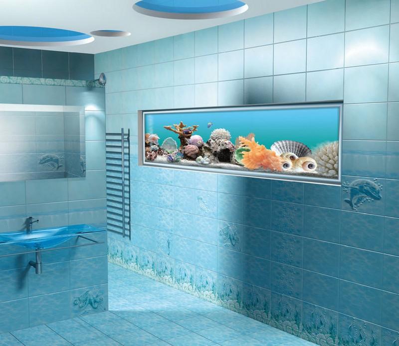плитка для ванной в морском стиле фото