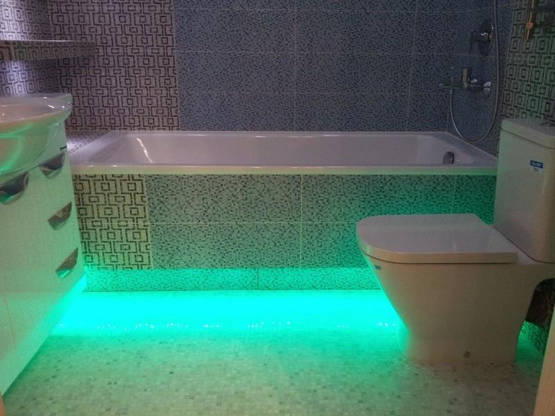 подсветка в ванной фото