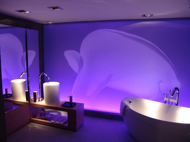 Подсветка в ванной: варианты размещения