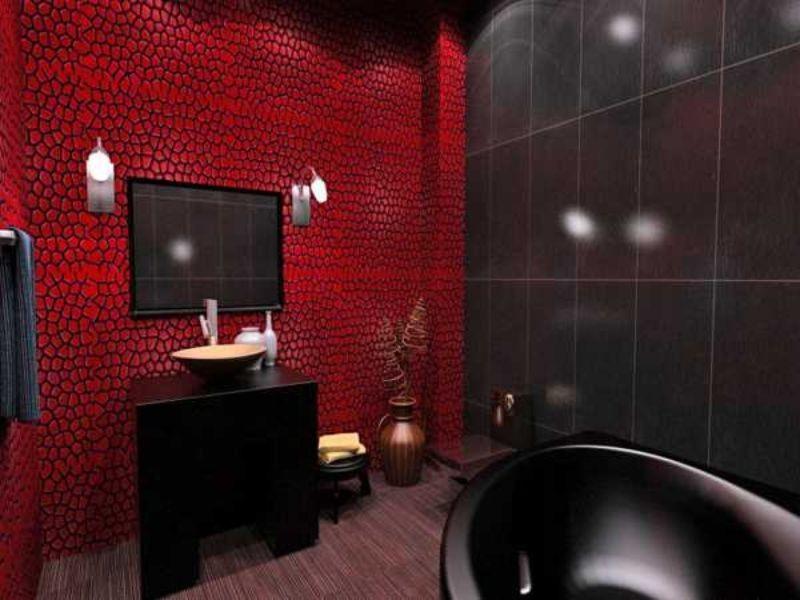 ванная комната в красном цвете фото
