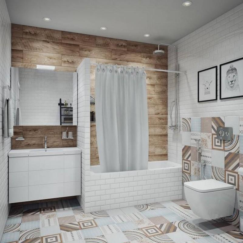 оформление ванной в скандинавском стиле фото