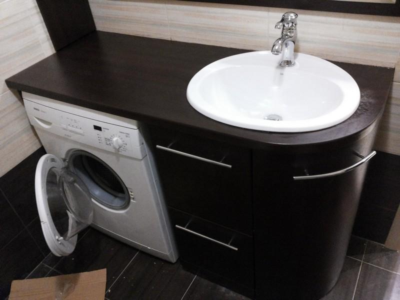 шкаф для раковины и стиральной машины фото