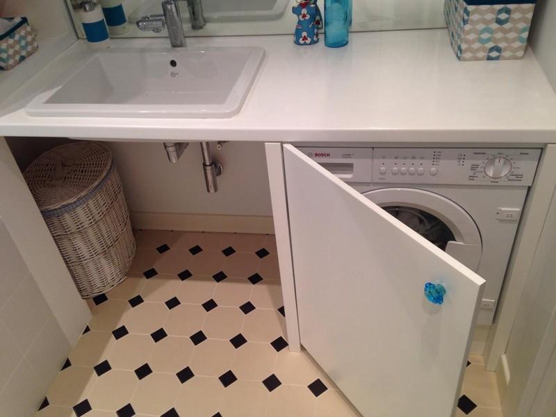 шкаф для стиральной машины в ванной фото