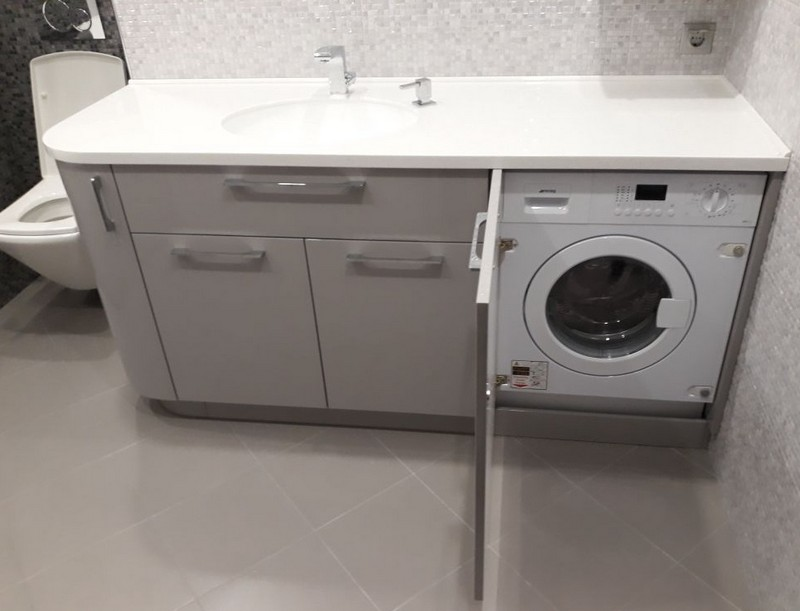 встроенный шкаф для стиральной машины фото