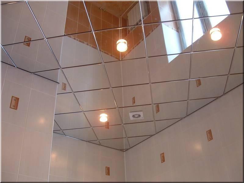 зеркальные панели на потолок фото