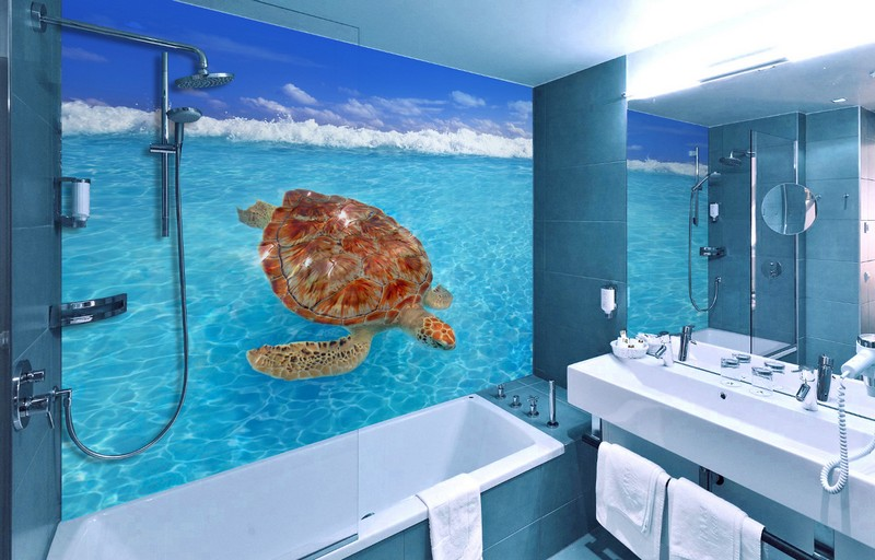 Фотообои для ванной: как выбрать подходящий вариант