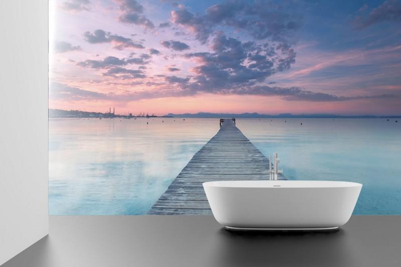 моющиеся фотообои для ванной фото