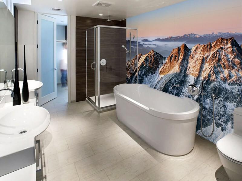 преимущества фотообоев для ванной фото