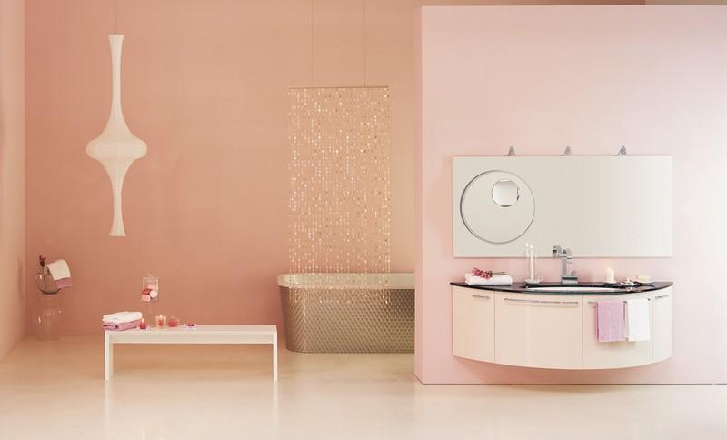 кремово розовая ванная фото