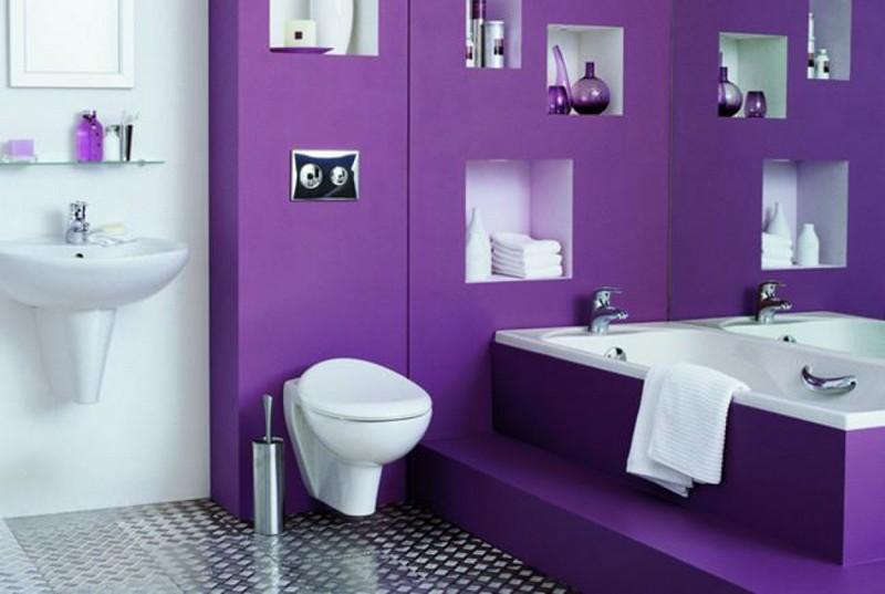 ванная комната в фиолетовом цвете фото