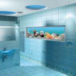 дизайн интерьера бирюзовой ванной