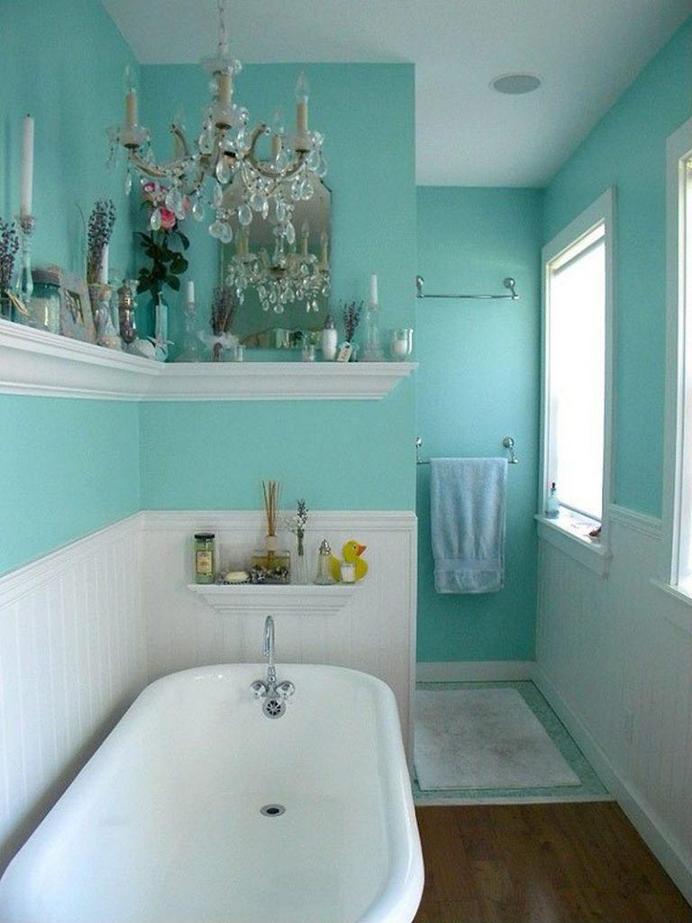дизайн ванной комнаты бирюзового цвета фото