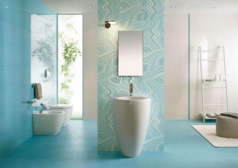 ванная комната в бирюзовом цвете фото