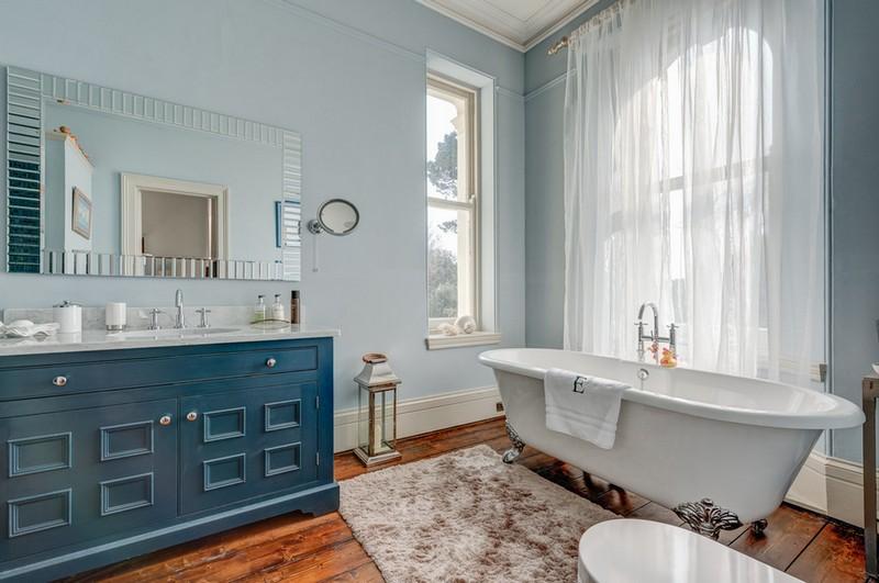 ванная комната в бирюзовых тонах фото