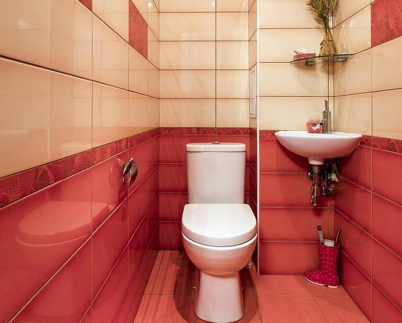 угловая раковина в туалет фото