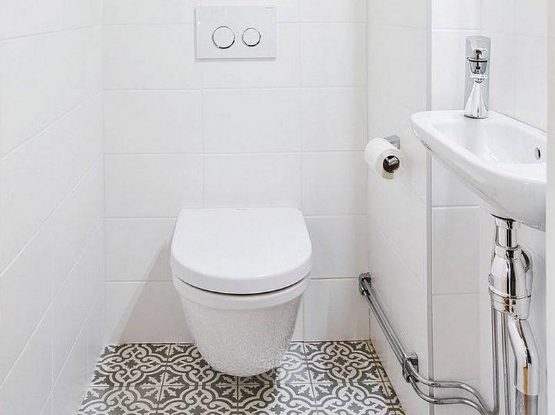узкая раковина в туалет фото