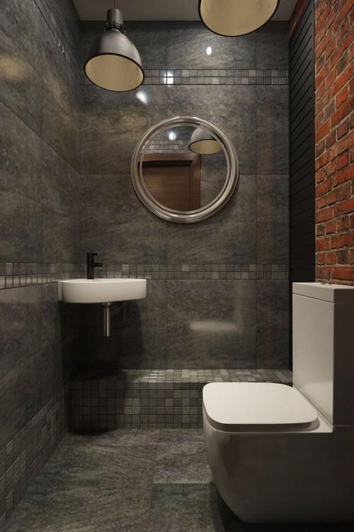 дизайн туалета в стиле лофт фото