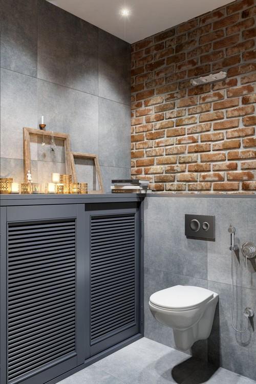 интерьер туалета в стиле лофт фото
