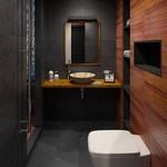 как оформить туалет лофт