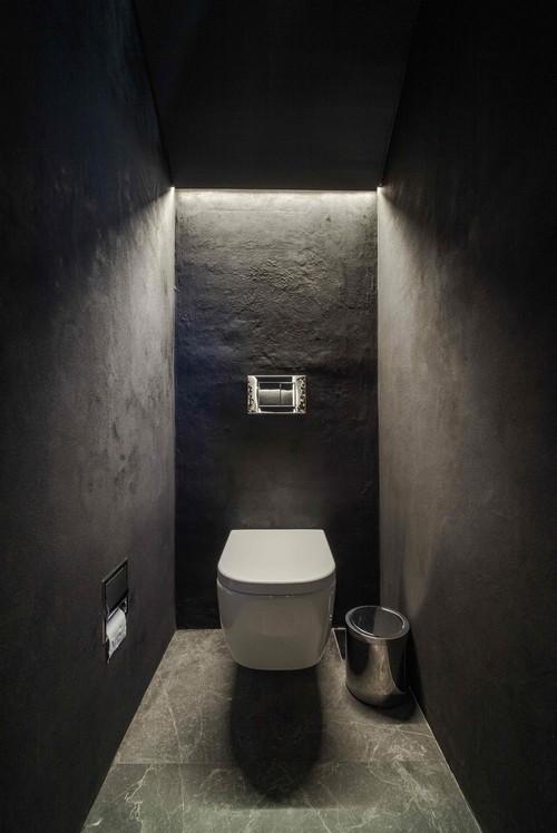 маленький туалет в стиле лофт фото