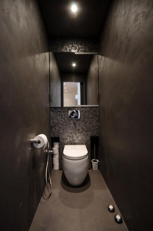 сантехника в туалете стиля лофт фото