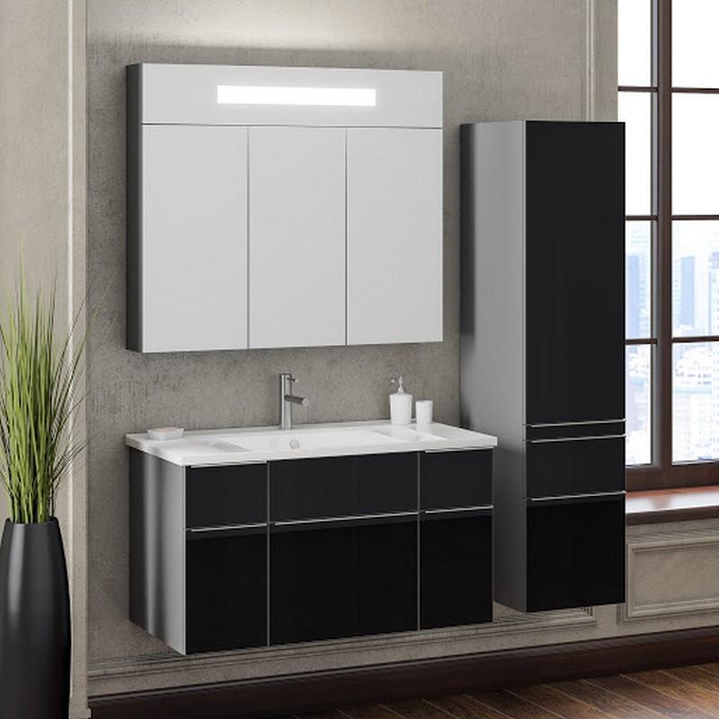 черно белая мебель для ванной фото