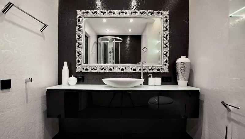 комплект мебели для ванной с зеркалом фото