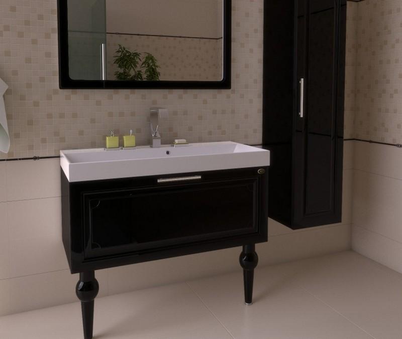 мебель для ванной черного цвета фото