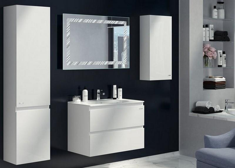 белая мебель для ванной фото