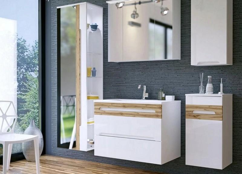 мебель для ванной белого цвета фото