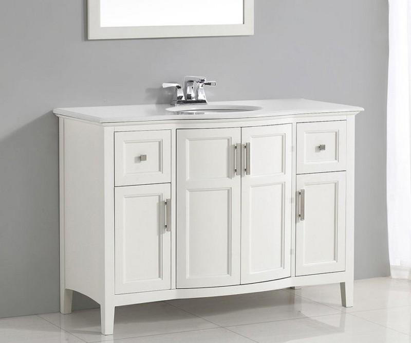 преимущества белой мебели для ванной