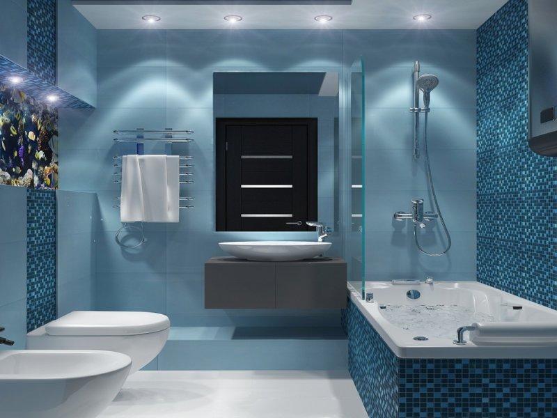 голубая ванная фото