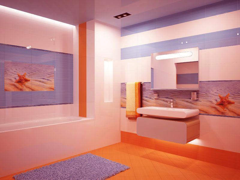 сочетание цветов в голубой ванной фото