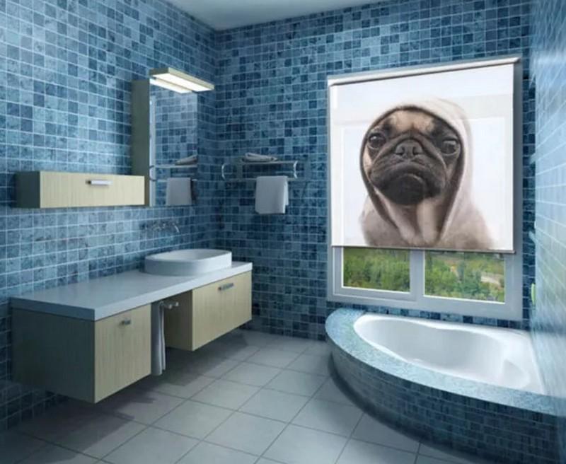 рулонные шторы для ванной фото