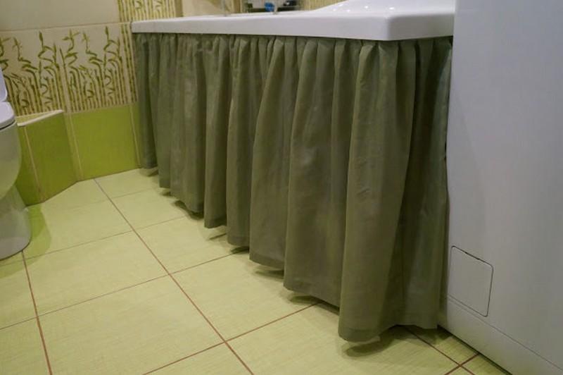 шторы под ванну вместо экрана фото