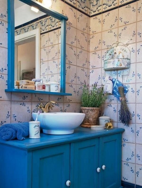 синяя ванная прованс фото
