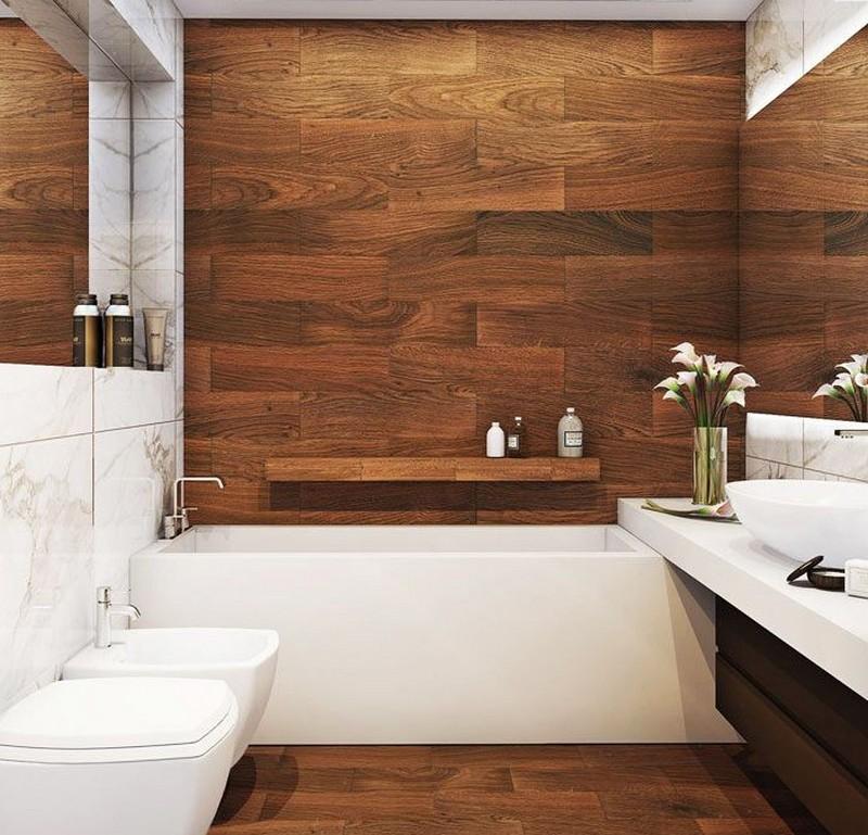 ванная комната под дерево фото