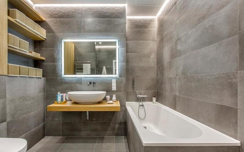 как сделать косметический ремонт в ванной фото
