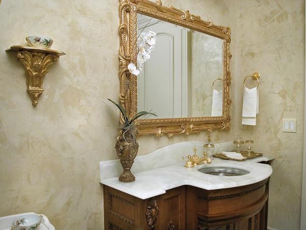 штукатурка стен в ванной комнате фото