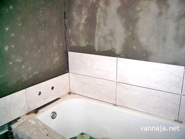 как уложить кафель в ванной последовательность работ
