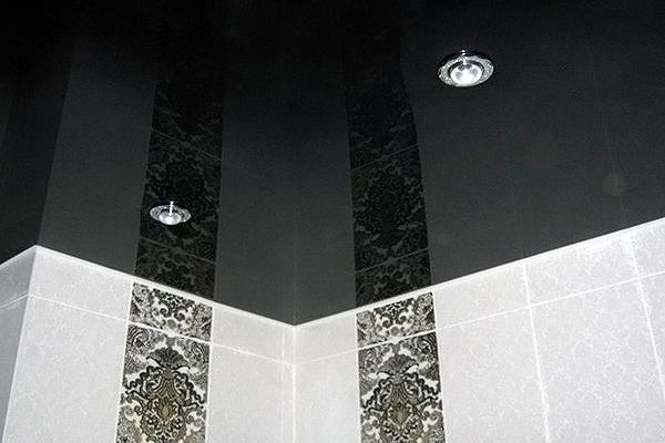 лучший потолок для ванной натяжной