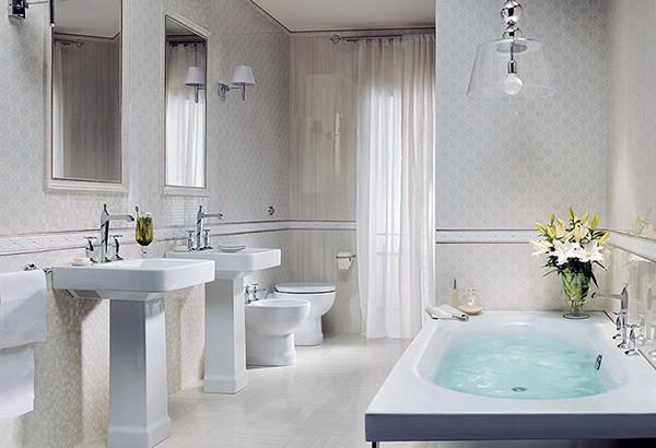 какой выбрать цвет для ванной комнаты в классическом стиле