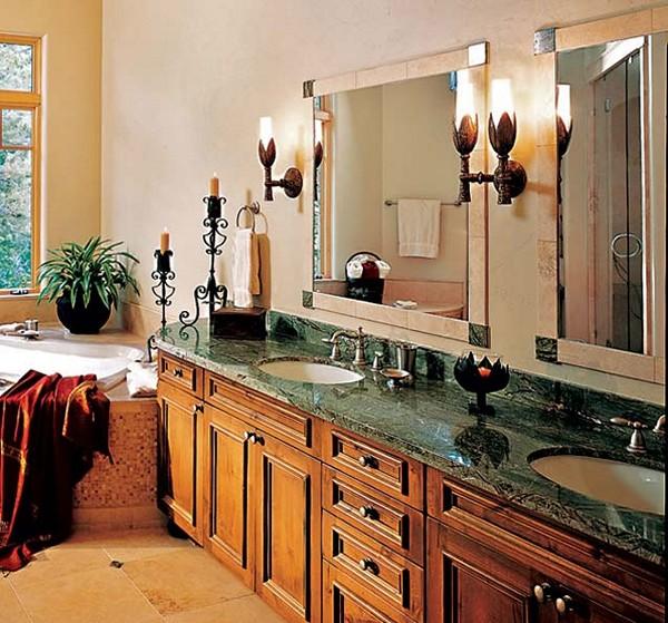 какое выбрать освещение в классическом интерьере ванной комнаты