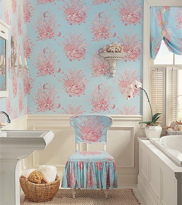 виниловые обои для ванной комнаты фото